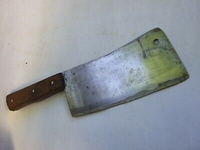 Vintage Cleaver Carbon Steel Knife Chopper Old Antique Tool VGC