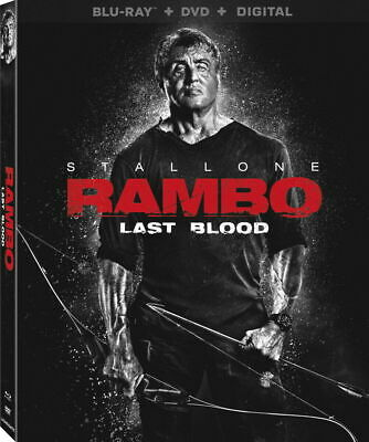 Rambo: Last Blood - BLU-RAY with case/artwork - No DVD or Digital- FREE SHIPPING