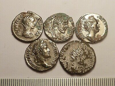 5813	Lot of 5 ancient Roman coins fоurres -  2nd century AD