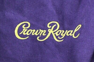 Lot of 50 Crown Royal Purple and Gold Drawstring Large Felt Bags Sewing Quilting
