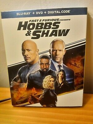 Hobbs and Shaw Blu-Ray with slipcover