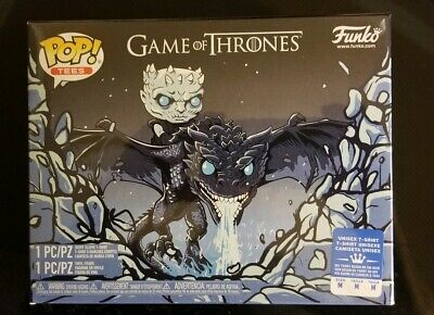 Funko Pop Game Of Thrones Icy Viserion GITD Pop Bundle Boxlunch Exclusive Medium