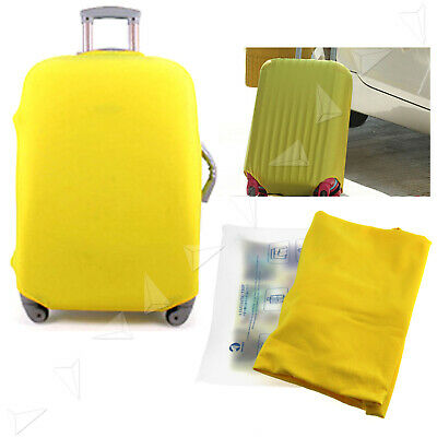 """30"""" Yellow Elastic Luggage Suitcase Cover Protective Bag Dust Proof Protector"""