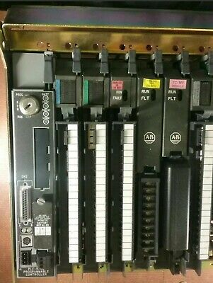 Allen Bradley PLC/20 Rack 1771-A3B1 B Chassis & I/O Cards 968150003