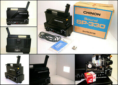 Vintage CHINON Sound SP-330 Super 8 8mm Film Sound Projector (new globe)