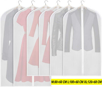 6-12x SUIT COVER BAGS Jacket Garment Storage Clothes Dress Coat Protector NEW