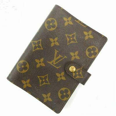 LOUIS VUITTON AGENDA PM Notebook Day Planner Cover Case Monogram R20005 Used LV