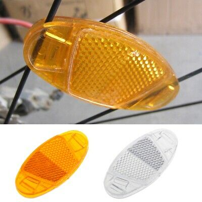4x//set bicycle pedal reflector safety night cycling reflective bike accessory GW