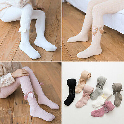Warmers Bow Knit Children's Pantyhose High Knee Sock Baby Girl Socks Stockings