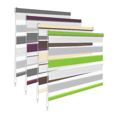 Made To Measure Day and Night Roller Blinds 2.0 Zebra/Vision New Colours Tape