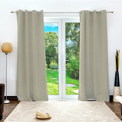 THERMAL BLACKOUT CURTAINS Eyelet Ring Top 11 Colours Sizes Luxury Premium