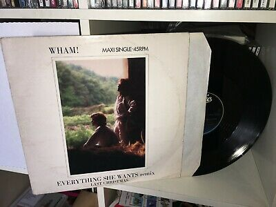 Wham George Michael Everything She Wants Last Christmas 12'' Maxi Single 45 Rpm