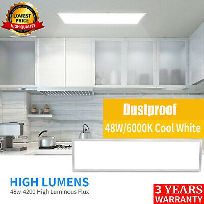 48W Ceiling Suspended Recessed LED Panel White Light Office Salon 1200 x 300mm