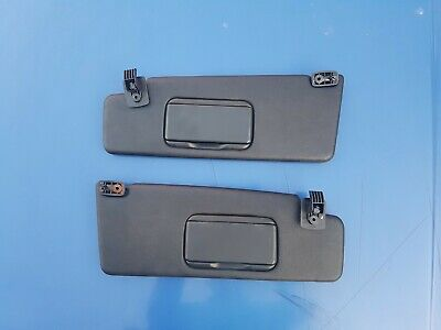 Vw Golf Mk3 Convertible Sun Visors With Mirrors In Black.