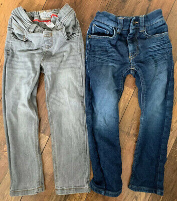 Boys Jeans Bundle X2 Age 4 Blue Grey Skinny NEXT & TU Smart Casual