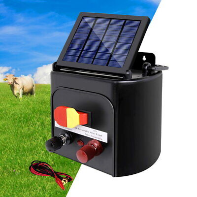 3km Solar Electric Fence Energiser Energizer Kit Charger Animal Pet Cattle Farm