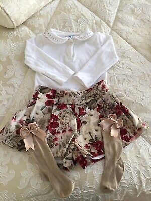 Mayoral Girls Spanish Outfit With Socks Age 2 Years Romany Good Condition