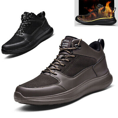Uk Mens Hiking Boots Walking Ankle Wide Fit Trail Trekking Trainers Shoes Size