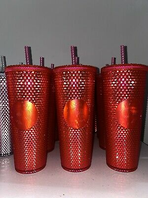 Starbucks Holiday 2019 Venti Studded Tumblers Cups Neon Pink NEW! SHIPS SAME DAY