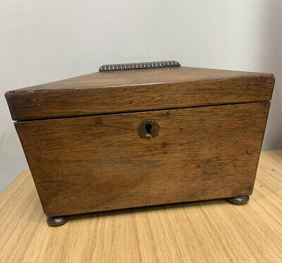 Regency Rosewood Sarcophagus Tea Caddy Missing Key