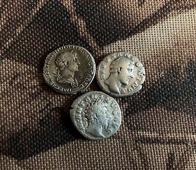 Ancient Roman Silver Coins 3 Coin Lot