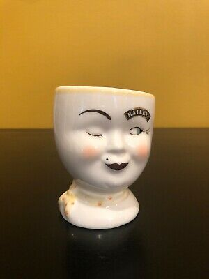 Vintage Baileys Yum Mugs Mr. & Mrs. His & Hers Winking Face 1997 Limited Edition