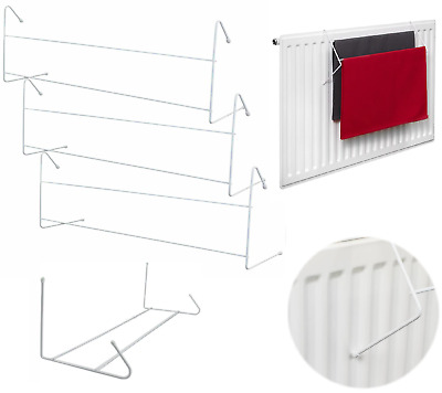 2 Bar Over Radiator Clothes Airer Indoor Laundry Towel Rail Drying Rack 3/6 Pack