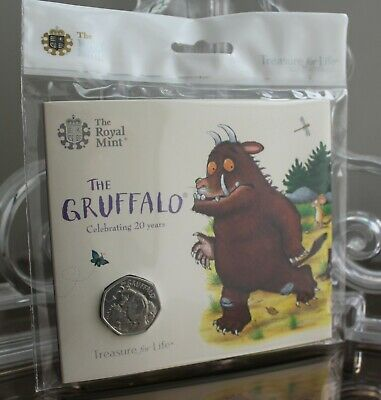 2019 The Gruffalo and Mouse 50p Fifty Pence Royal Mint BU Coin Pack New Sealed