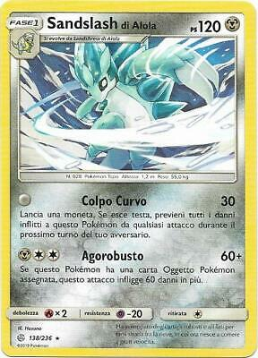 Pokemon Sandslash Di Alola 138/236 Rara Eclissi Cosmica The Real_Deal Shop