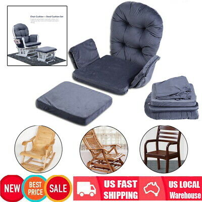 Cotton Cushion Set For Baby Nursery Relax Rocker Rocking Chair Glider Ottoman