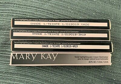 Lot of 4 Mary Kay Facial Highlighting Pen Shade 1 brand  NEW in Box