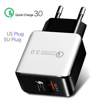 Quick Charge 3.0 USB 5V 3A Phone Wall Home Travel Fast Charger Adapter Charm RF