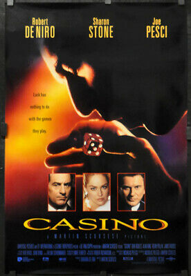Casino 1995 27X40 2/S Int L Film Affiche Robert de Niro Sharon Pierre Joe Pesci