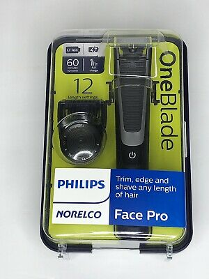 Philips Norelco QP6510/70 - OneBlade Face Pro - Trim, Edge, Shave - 12 Settings