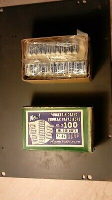 PORCELIN CASED TUBULAR CAPACITORS - CHERRY 100 pieces