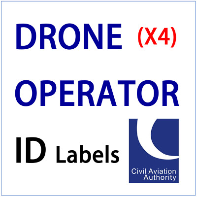 UK Drone Operator 9mm ID Labels CAA Regulatory Tag Identification Stickers