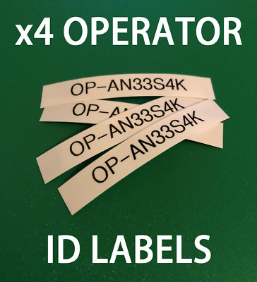 UK Drone Operator ID Labels CAA Regulatory 9mm Tag Identification Stickers