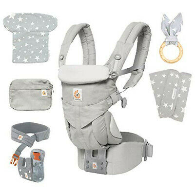 Ergobaby OMNI 360 cuddly thong baby carrier pearl gray (with head support cover