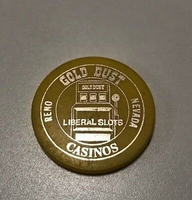 Vintage Gold Dust Casino Reno Nevada Yellow Free Drink Token