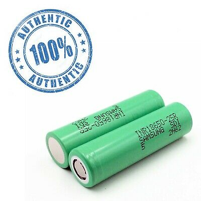 🔥2 Authentic Samsung 25R 18650 2500mAh  Rechargeable Battery for Flashlight🔥
