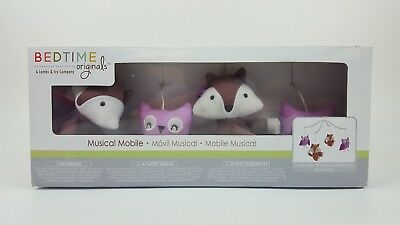 New Lambs & Ivy Bedtime Originals Lavendar Woods Collection Musical Crib Mobile