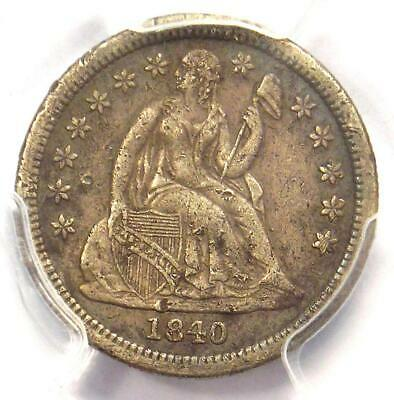 1840 Drapery Seated Liberty Dime 10C Coin - PCGS XF Details - Rare Date!