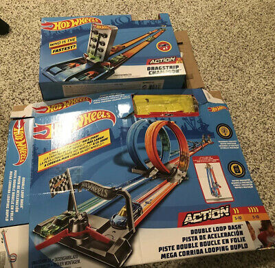 Hot Wheels Double Loop Dash And Dragstrip Champion