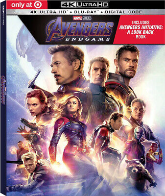 AVENGERS ENDGAME 4K Ultra HD +BLU-RAY+Digital Code +TARGET Book-FIRST CLASS Ship