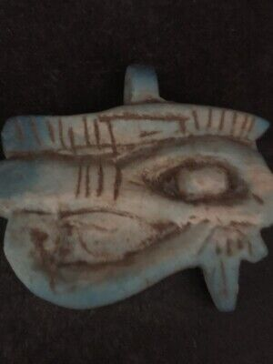 Rare Ancient Egyptian Faience Pendant  Horus Eye 650-530 BC