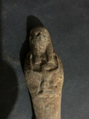 Rare Ancient Egyptian Faience Shabti Hieroglyphics  (945-715 BC.)
