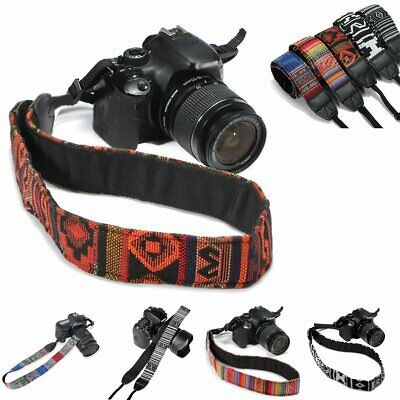 Shoulder Neck For SLR Belt Strap Canon Nikon DSLR Sony Vintage Camera Panasonic~