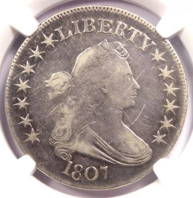 1807 Draped Bust Half Dollar 50C - Certified NGC VF Detail - Rare Coin!