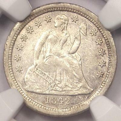 1842-O Seated Liberty Dime 10C - NGC AU Details - Rare Date Coin!