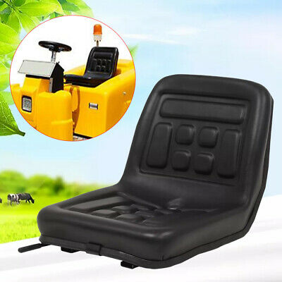 Adjustable Forklift Dumper Mower Tractor Seat w/Rails Horizontally Waterproof UK